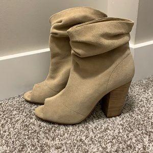 Nine West Suede booties open toe